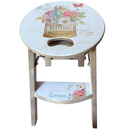 Birdcage step stool