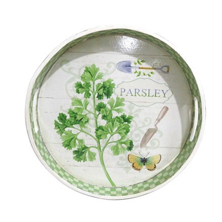 Wooden parsley design tray