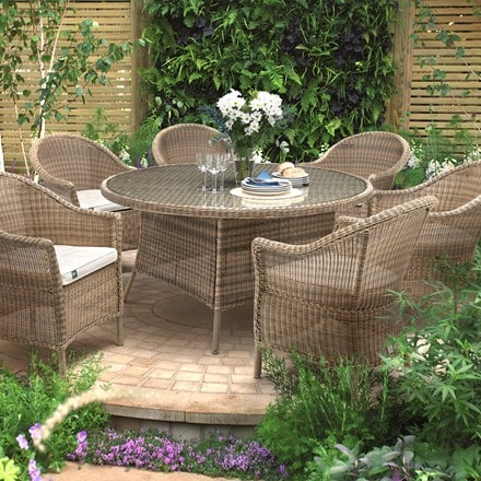 RHS Kettler harlow carr 6 seater dining set
