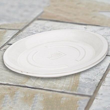 RHS white round saucer