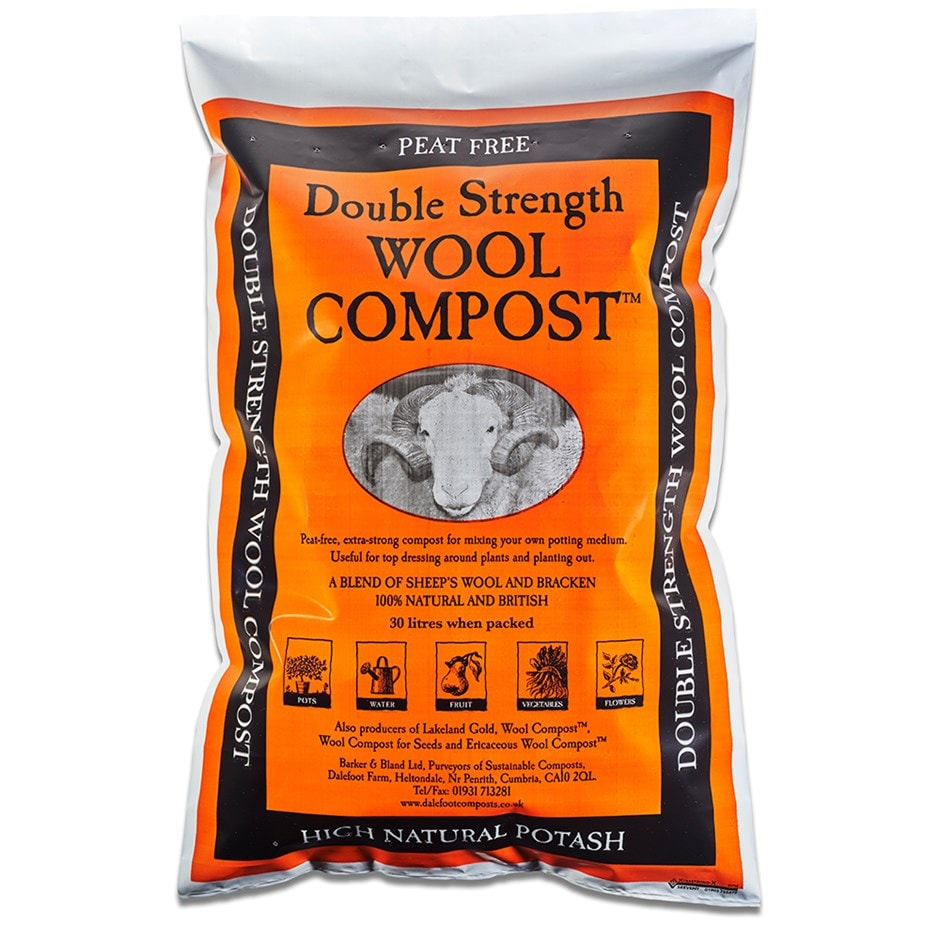 Double strength peat free wool compost
