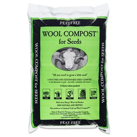 Peat free wool compost for seeds