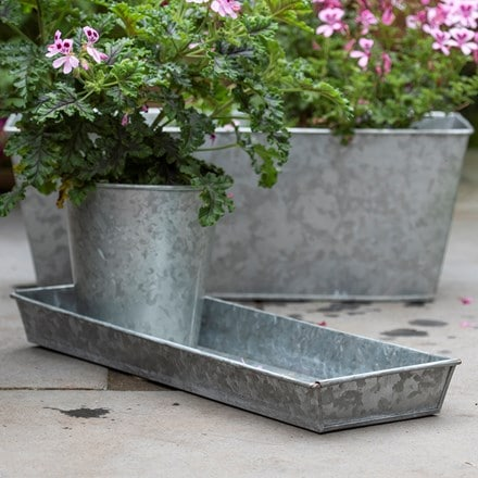Galvanised window trough tray