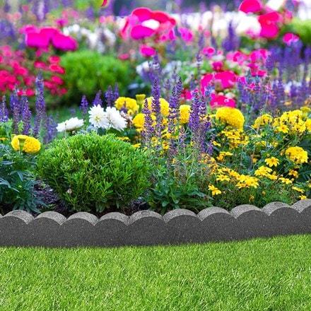 Recycled garden border flexi curve scallop