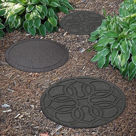 Recycled reversible stepping stone medallion
