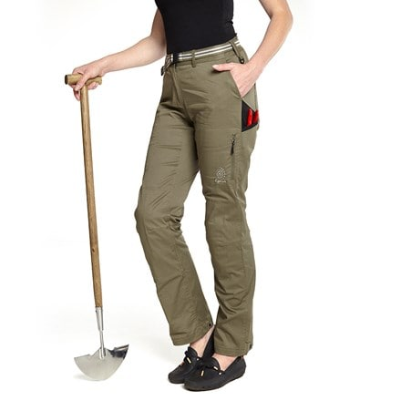 Genus summer gardening trousers burnt olive
