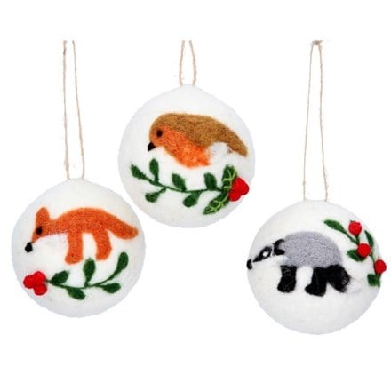 Mix wool woodland animal ball