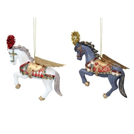 Resin Venetian horse decoration