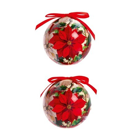 Poinsettia baubles box