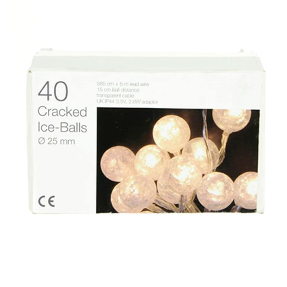 40 cracked ice ball LED lights