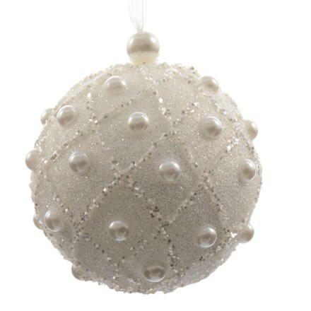 Foam bauble with pearls