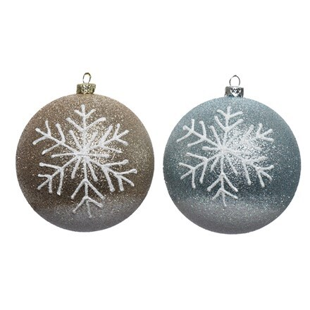 Shatterproof bauble - two colours