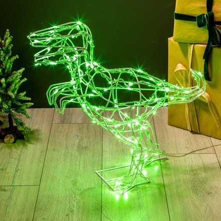 LED standing dinosaur - 100 lights