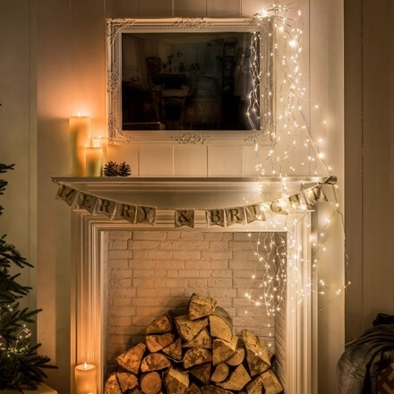 Cascading wire lights - 400 lights