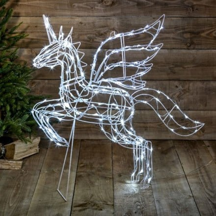 White twinkle jumping unicorn - 160 lights