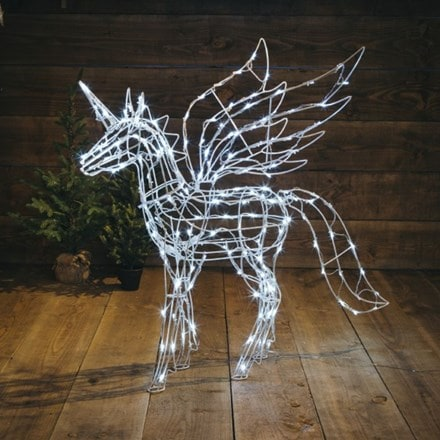 White twinkle standing unicorn - 160 lights