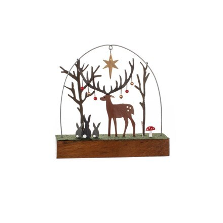 Bauble stag on block - 2 left