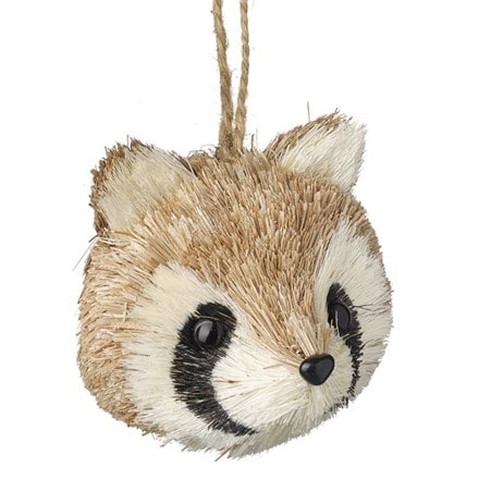 Racoon head ornament