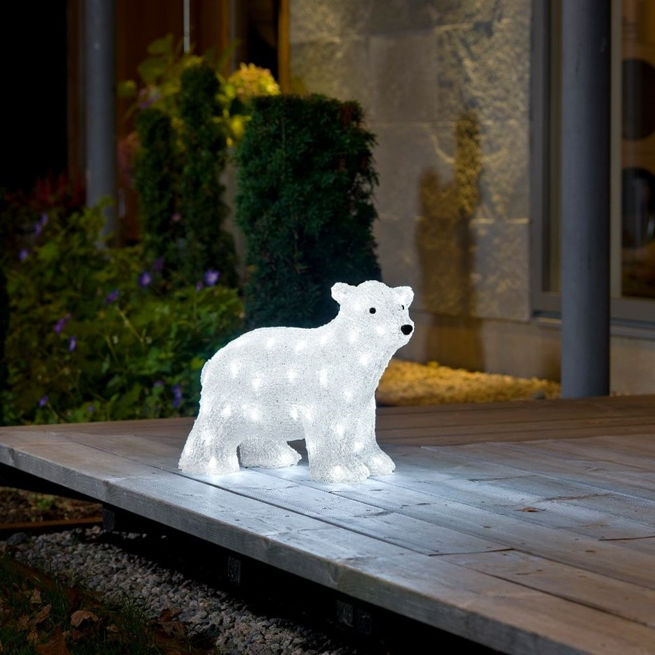 Acrylic polar bear
