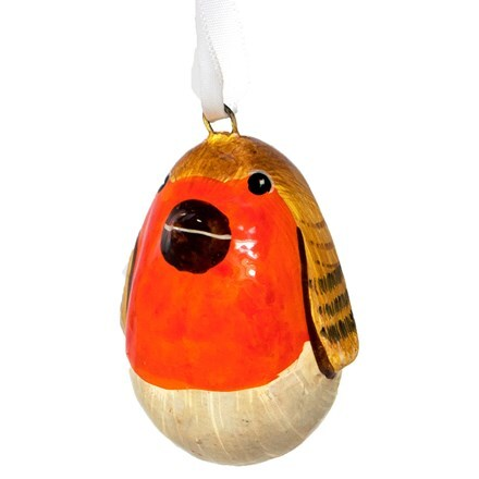 Mini robin bauble