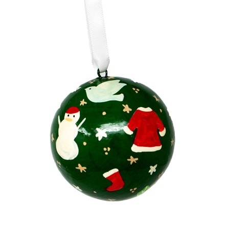 Christmas colour wrap bauble - small