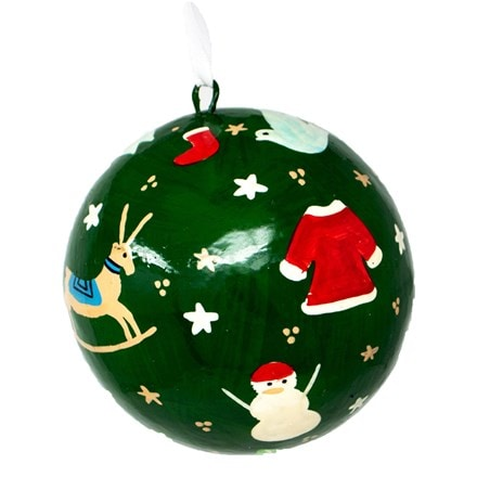 Christmas colour wrap bauble - large