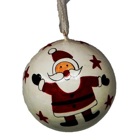 Santa bauble - small
