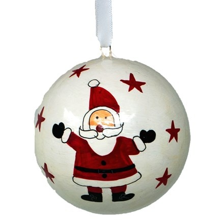 Santa bauble - large