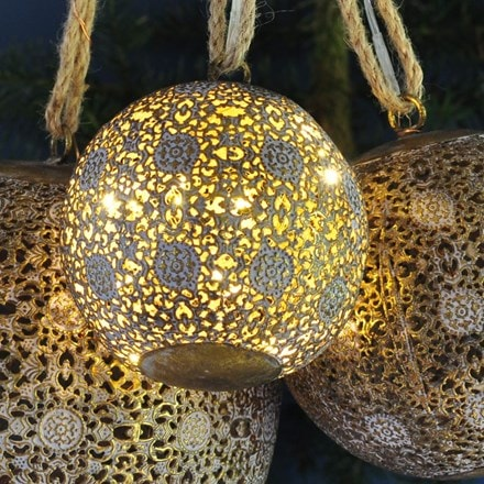LED antique brass bauble - 1 left
