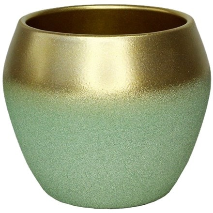 Inverno mint gold planter