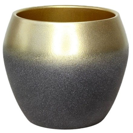 Inverno anthracite gold planter