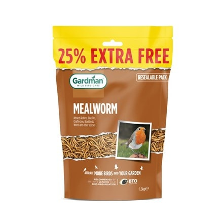 Dried mealworms 1.2kg + 25% extra free