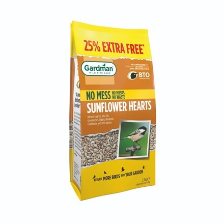 Sunflower hearts 2kg + 25% extra free