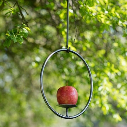 Steel bird feeder