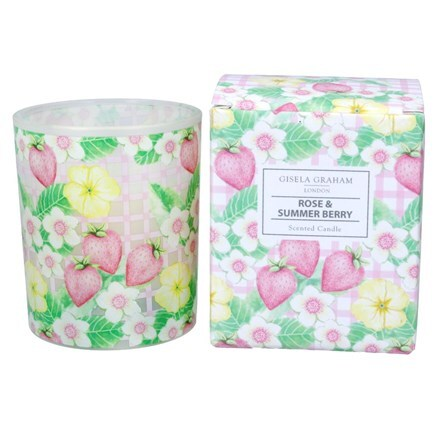 Rose & summer berry candle pot