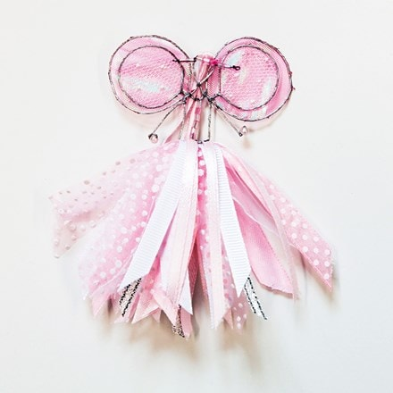 Small pink/white ribbon fairy