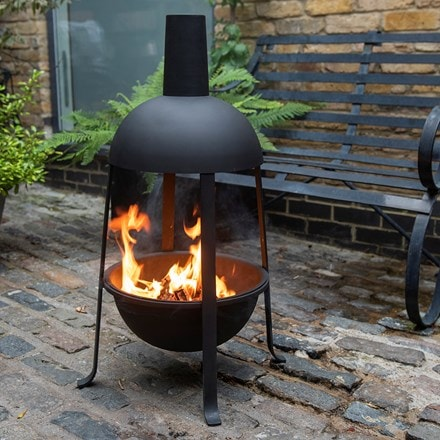 Hooded jiko fire pit warmer + FREE fire starter dome
