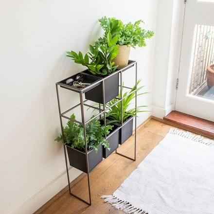 Tall pot console - 4 pots/2 trays