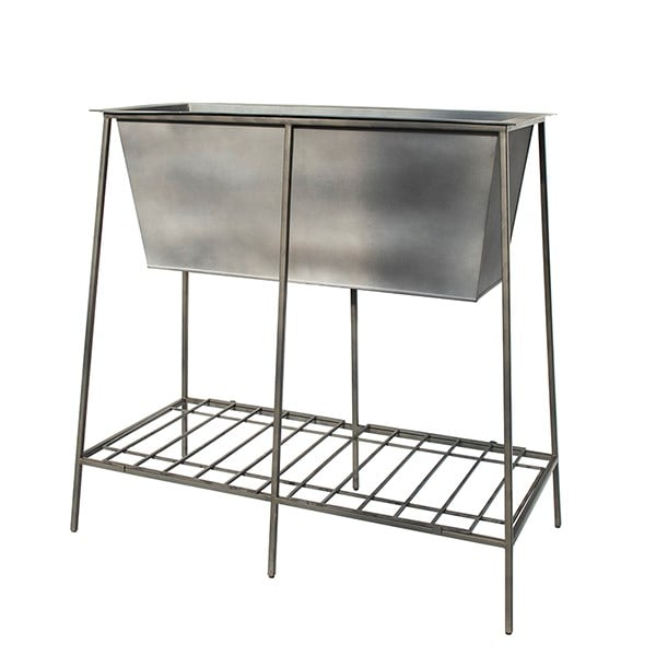 Trough stand with shelf - long