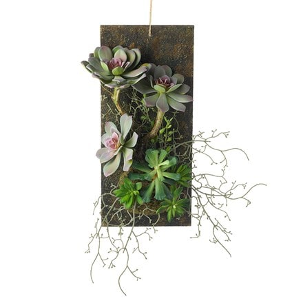 Artificial succulent wall garden