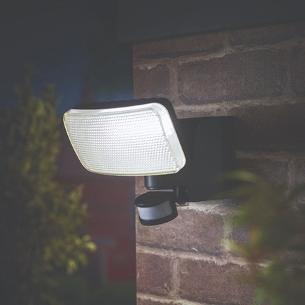 All year round solar security light