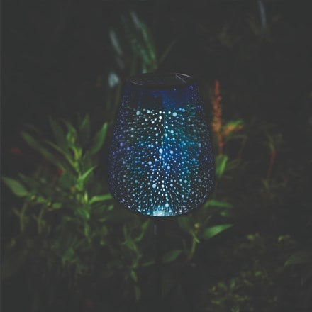 Solar sphere stargazer stake light