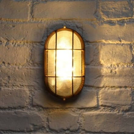 Solar oval bulkhead wall light