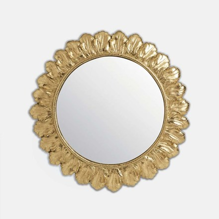 Decorative floral round mirror