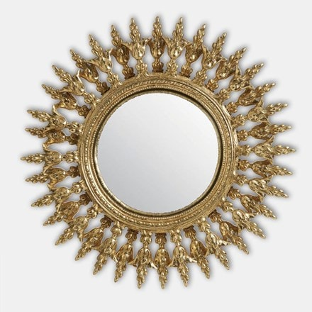Decorative round mirror