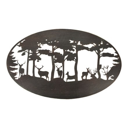 Deer wall art - oval