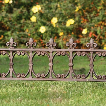 Cast iron lawn edging