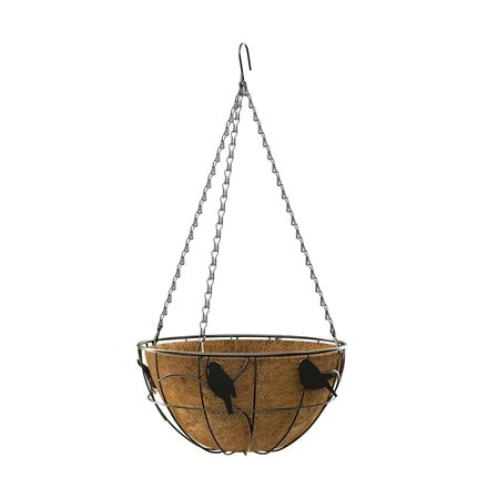 Perching birds hanging basket