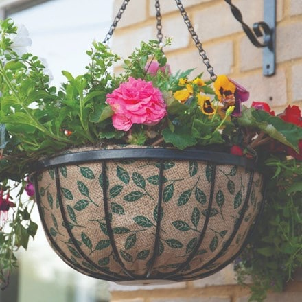 Decorative hanging basket liner - 35cm