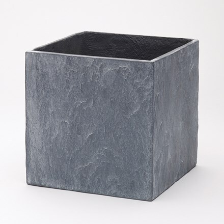 Slate light grey cube